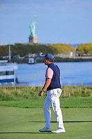 Phil Mickelson (USA) makes his way down 14 during round 2 Four-Ball of the 2017 President's Cup, Liberty National Golf Club, Jersey City, New Jersey, USA. 9/29/2017.<br /> Picture: Golffile | Ken Murray<br /> <br /> All photo usage must carry mandatory copyright credit (&copy; Golffile | Ken Murray)