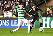 12th September 2017, Glasgow, Scotland; Champions League football, Glasgow Celtic versus Paris Saint Germain;  NEYMAR JR (psg) takes on Mikael Lustig (cel)