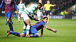 Luis Suárez of Barcelona claims a penalty during the Champions League match at Celtic Park, Glasgow. Picture Date: 23rd November 2016. Pic taken by Lynne Cameron/Sportimage
