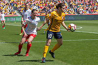 Sandy, UT - Saturday April 14, 2018: Taylor Comeau, Diana Matheson during a regular season National Women's Soccer League (NWSL) match between the Utah Royals FC and the Chicago Red Stars at Rio Tinto Stadium.