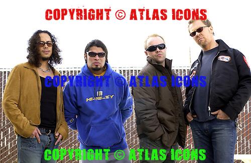 Metallica; 2003<br /> Photo Credit: JOE GIRON/ATLASICONS.COM