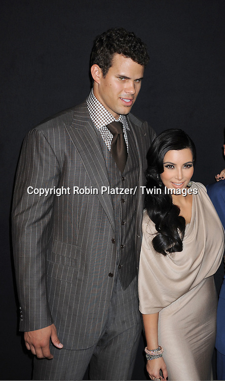 Kris Humphries, Kim Kardashian attending the Kim Kardashian and husband Kris Humphries Welcome to New York Party on August 31, 2011 at Capitale in New York City.