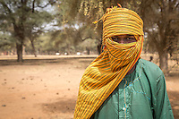 Fulani cattle herder near Podor in northern Senegal