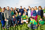 Sean Maunsell (Captain) pictured with his family at the St Brendans v Kilmoyley County Hurling final in Abbeydorney on Sunday.