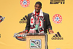 13 January 2011: Chicago Fire selected Jalil Anibaba with the #9 overall pick. The 2011 MLS SuperDraft was held in the Ballroom at Baltimore Convention Center in Baltimore, MD during the NSCAA Annual Convention.