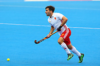Adam Dixon of England during the Hockey World League Semi-Final match between England and Netherlands at the Olympic Park, London, England on 24 June 2017. Photo by Steve McCarthy.