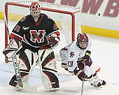 Adam Geragosian, Pat Gannon - The Boston College Eagles defeated Northeastern University Huskies 5-3 on Saturday, November 19, 2005, at Kelley Rink in Conte Forum at Chestnut Hill, MA.