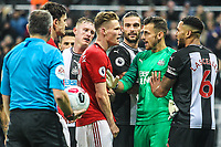 Things get heated post-match during the Premier League match between Newcastle United and Manchester United at St. James's Park, Newcastle, England on 6 October 2019. Photo by James  Gill / PRiME Media Images.