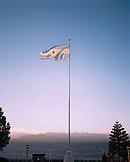 ARGENTINA, Bariloche, Centro Civico, Argentina flag against clear sky