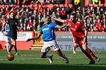 03.03.2019 Aberdeen v Rangers: Alfredo Morelos looking for a penalty kick