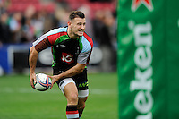Danny Care of Harlequins warms up before the Heineken Cup Round 1 match between Harlequins and Scarlets at the Twickenham Stoop on Saturday 12th October 2013 (Photo by Rob Munro)