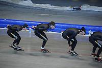 SCHAATSEN: HEERENVEEN: 17-06-2014, IJsstadion Thialf, Zomerijs training, Wouter olde Heuvel, Douwe de Vries, Sven Kramer, ©foto Martin de Jong