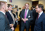 BRUSSELS - BELGIUM - 28 November 2016 -- Inauguration of the Nordic Energy Office. --  (f. right) Jyrki Katainen, Vice-president of the European Commission, responsible for Jobs, Growth, Investment and Competitiveness; Jukka Leskelä (Leskela, Leskelae), Finnish Energy; Kari Aalto, Director of the East and North Finland EU Office and Joona Turtiainen, Finnish Energy. -- PHOTO: Juha ROININEN / EUP-IMAGES