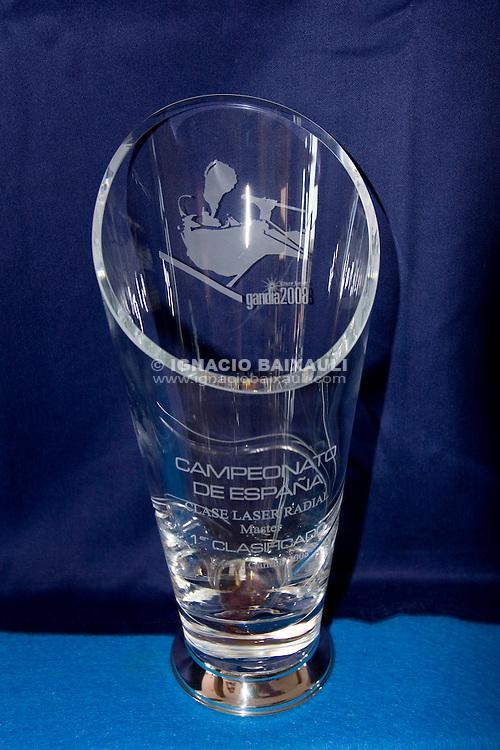 Trofeo.PRESENTACIÓN OFICIAL DEL CAMPEONATO DE ESPAÑA LASER - Real Club Náutico de Gandía - 29/8/2008