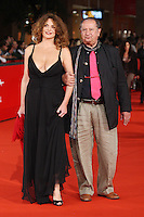 "TINTO BRASS and CATERINA VALSI during the red carpet of the film  ""L'Uomo che ama"" at the third edition of Festa Internazionaledel Cinema di Roma, Auditorium Parco della Musica, October 23, 2008. <br /> Tinto Brass e Caterina Valsi durante il red carpet del film ""L'Uomo che ama"" alla terza edizione della Festa Internazionale del Cinema di Roma.<br /> Roma 23/10/2008 Auditorium Parco della Musica. <br /> Photo Antonietta Baldassarre Inside"