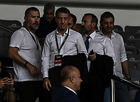 President of Trabzospor Ahmet Ağaoğlu during of the UEFA Europa League play-off, 1st leg, soccer match between AEK Athens FC and Trabzonspor at the OAKA Spyros Louis Stadium in Athens, Greece on August 22, 2019.