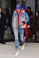 NEW YORK, NY - MARCH 12: Gigi Hadid seen in New York City on March 12, 2018. <br /> CAP/MPI/DC<br /> &copy;DC/MPI/Capital Pictures
