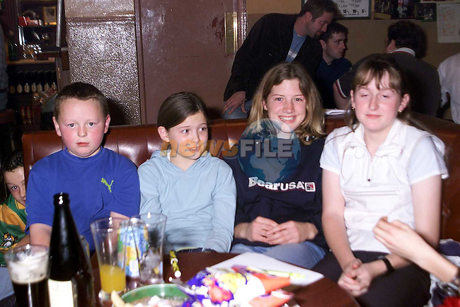 Andrew Collins, Megan Dunne, Michella Dunne and Joan Collins at the table quiz in Whyte's pub Stamullen..Picture: Paul Mohan/Newsfile