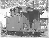 RGS caboose #0401 at Dolores, CO.<br /> RGS  Dolores, CO  Taken by Richardson, Robert W. - 10/10/1945