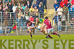 Kerry's Kieran Donaghy and Galway's l-r: Finian Hanley and David Reilly.
