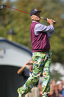 Actor Bill Murray on the 1st  during the Captain/Celebrity scramble exhibition at the Ryder Cup 2012, Medinah Country Club,Medinah, Illinois,USA.Picture: Fran Caffrey/www.Golffile.ie.