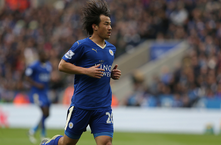 Leicester City's Shinji Okazaki  <br /> <br /> Photographer Stephen White/CameraSport<br /> <br /> Football - Barclays Premiership - Leicester City v Swansea City - Sunday 24th April 2016 - King Power stadium - Leicester<br /> <br /> &copy; CameraSport - 43 Linden Ave. Countesthorpe. Leicester. England. LE8 5PG - Tel: +44 (0) 116 277 4147 - admin@camerasport.com - www.camerasport.com