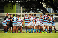Action from the rugby match between Rongotai College XV and Club Atletico del Rosario Under-17 at Evan's Bay Park in Wellington, New Zealand on Wednesday, 28 February 2018. Photo: Dave Lintott / lintottphoto.co.nz