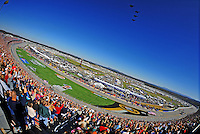 Nov. 1, 2009; Talladega, AL, USA; Overall view of the Talladega Superspeedway during the Amp Energy 500. Mandatory Credit: Mark J. Rebilas-
