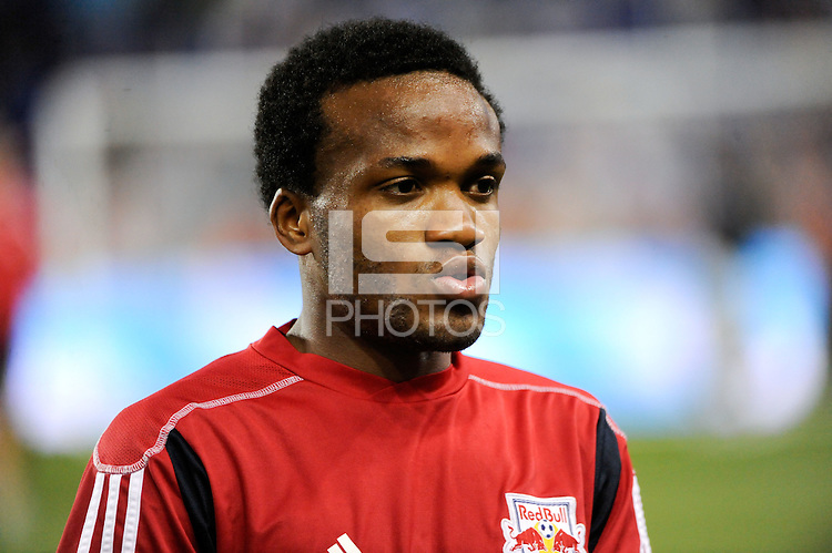 Dane Richards (19) of the New York Red Bulls. The New York Red Bulls defeated the Kansas City Wizards 1-0 during a Major League Soccer (MLS) match at Red Bull Arena in Harrison, NJ, on October 02, 2010.