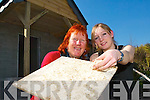 WHAT'S THE ALTERNATIVE: Lorna Tyther has used hemp in the plaster while working on an.extension for her new restaurant in Castlemaine. From l-r were: Lillian Leask and Lorna Tyther.