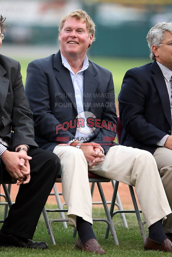 August 25th, 2007:  Duke McGuire laughs during a speech for the 2007 Buffalo Bisons Hall of Fame Induction at Dunn Tire Park in Buffalo, NY.  Photo by Mike Janes/Four Seam Images