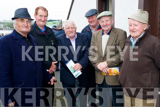Patrick Carmody (Listowel), George McNamara (Lisselton), Ned Bolger (Listowel), John McNamara (Lisselton), John Barker McMahon (Lisselton) and Tony Lynch (Ballybunion), enjoying Listowel Races on Sunday afternoon last.
