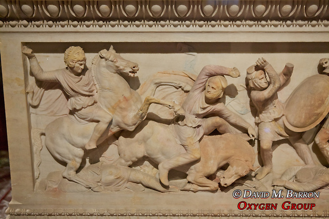 What Was Thought To Be Alexander the Great's Sarcophagus (4th century BC), Istanbul Archaeology Museum - Actually Belonged To Abdalonymus