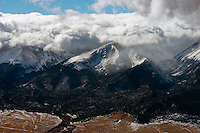 Low clouds over the Sangre de Cristo mountains near Mt. Blanca, Colorado.  Jan 2013