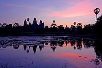 Angkor Wat at Sunrise, Siam Reap, Cambodia