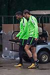 08.09.2017, Weserstadion, Bremen, GER, 1.FBL, Training SV Werder Bremen<br /> <br /> im Bild<br /> <br /> Ulisses Alexandre Garcia (Werder Bremen #20), Ishak Belfodil (Werder Bremen #29), <br /> <br /> Foto &copy; nordphoto / Ewert
