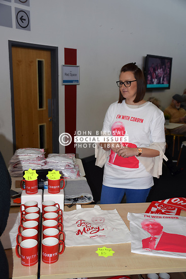 Merchandise stall at Labour Party event, Norwich October 2017