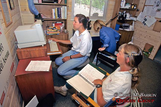 Sarah Borrey, Barbara Linsley & Evelyn Hanggi  Entering Data