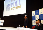 September 26, 2017, Tokyo, Japan - Japan Display Inc. (JDI) chairman Nobuhiro Higashiiriki announces the company's structural reform plan and new products of Full Active display panel in Tokyo on Thursday, September 26, 2017. Full Active display has ultra slim bezel of about 5mm.   (Photo by Yoshio Tsunoda/AFLO) LWX -ytd-