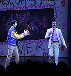 Cheech Manohar and Rick Younger during the Broadway Opening Night Performance Curtain Call of 'Mean Girls' at the August Wilson Theatre on April 8, 2018 in New York City.
