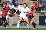 16 November 2013: North Carolina's Cat Nigro (9). The University of North Carolina Tar Heels hosted the Liberty University Flames at Fetzer Field in Chapel Hill, NC in a 2013 NCAA Division I Women's Soccer Tournament First Round match. North Carolina won the game 4-0.