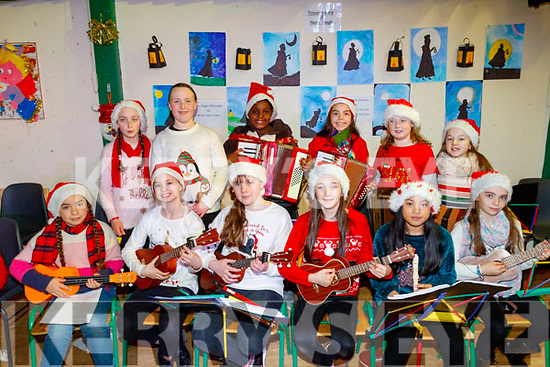 Young musicians about to perform at the Presentation Primary School, Tralee annual Christmas concert last Wednesday morning Dec 11 in the school hall.