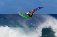 Antoine Martin at the 6th and final stop of the 2012 American Windsurfing Tour (AWT), in Ho'okipa Beach Park (Maui, Hawaii, USA)