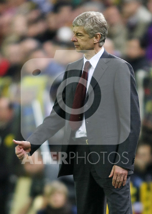 Arsenal's coach Arsene Wenger during the UEFA Champiosn League match.April 7 2009. (ALTERPHOTOS/Acero).