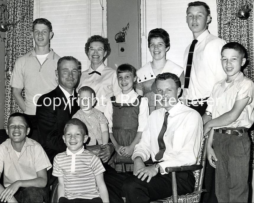 Ernie & Jenny Riesterer family, 1965