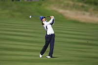 Azahara Munoz of Team Europe on the 8th fairway during Day 1 Foursomes at the Solheim Cup 2019, Gleneagles Golf CLub, Auchterarder, Perthshire, Scotland. 13/09/2019.<br /> Picture Thos Caffrey / Golffile.ie<br /> <br /> All photo usage must carry mandatory copyright credit (© Golffile | Thos Caffrey)