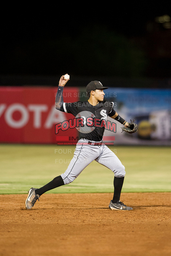 AZL White Sox shortstop Laz Rivera (36) on defense against the AZL Angels on August 14, 2017 at Diablo Stadium in Tempe, Arizona. AZL Angels defeated the AZL White Sox 3-2. (Zachary Lucy/Four Seam Images)