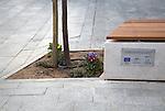 Pavimentación y mobiliario urbano en plazas de Sanlúcar la Mayor. Sevilla. Spain. SVQ Arquitectura Ciudad Paisaje Territorio Architects. Esther Díaz Caro, Francisco J. Basallote Neto.
