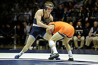 STATE COLLEGE, PA -DECEMBER 19: Zach Beitz of the Penn State Nittany Lions during a match against Sal Mastriani of the Virginia Tech Hokies on December 19, 2014 at Recreation Hall on the campus of Penn State University in State College, Pennsylvania. Penn State won 20-15. (Photo by Hunter Martin/Getty Images) *** Local Caption *** Zach Beitz;Sal Mastriani