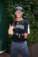 Carter Kieboom (22) of Walton High School in Marietta, Georgia poses for a photo before the Under Armour All-American Game on August 15, 2015 at Wrigley Field in Chicago, Illinois. (Mike Janes/Four Seam Images)